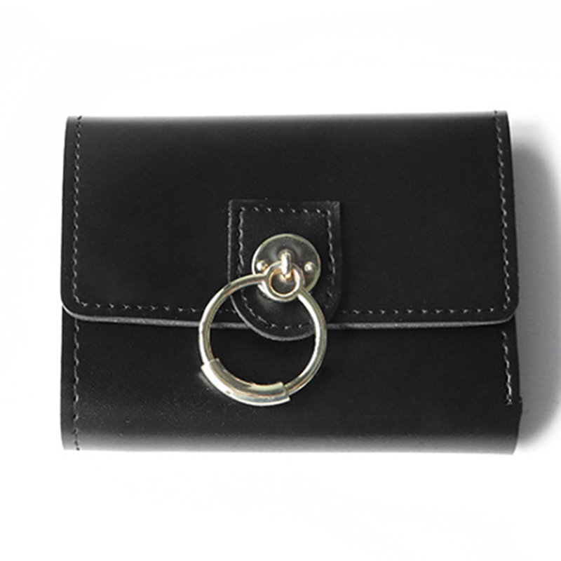 New Wallet Women's Short Fashion Simple Folding Simple Coin Purse Mini Student Buckle(China)