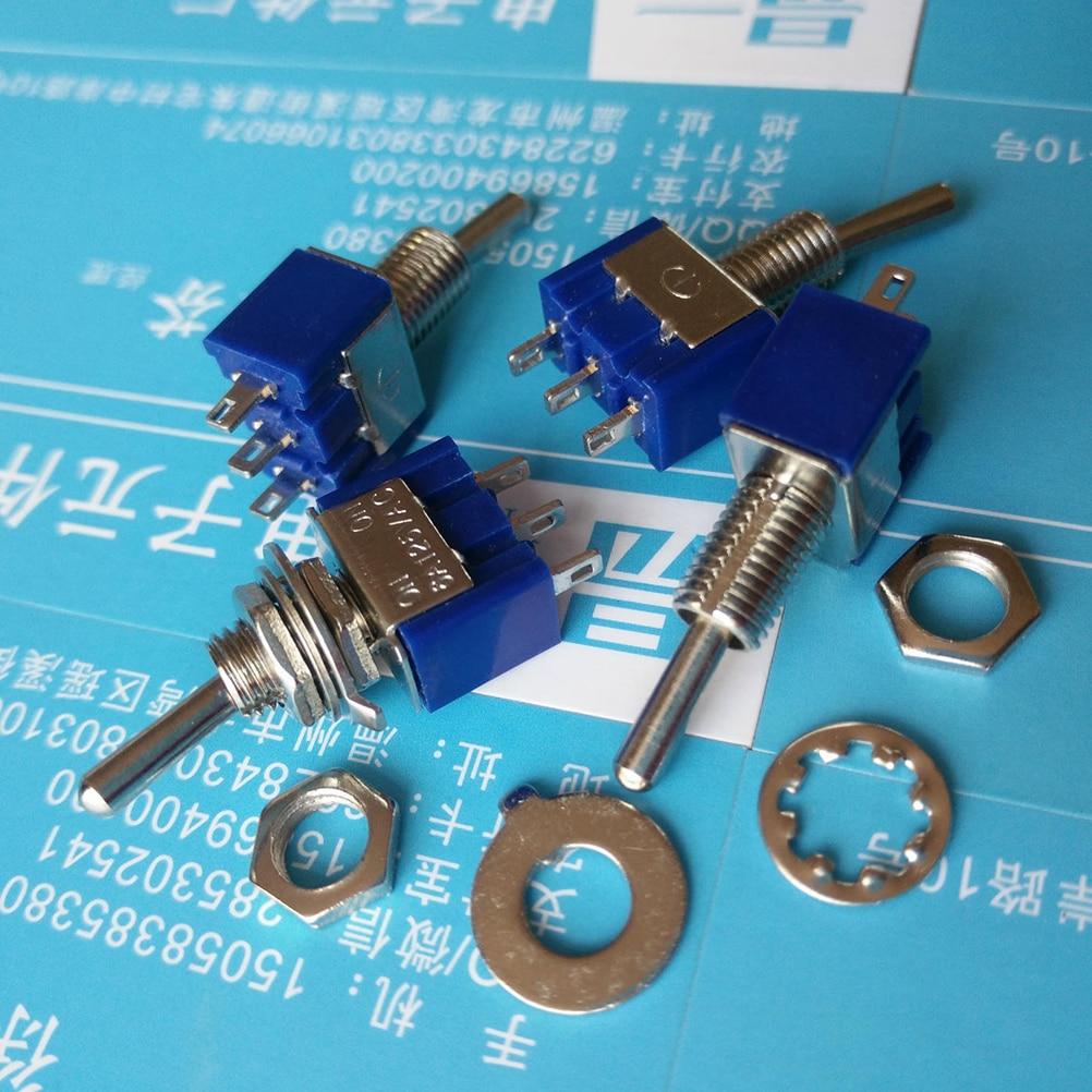 10 шт. мини MTS-102 3-контактные переключатели SPDT ON-ON 6A 125VAC Новинка
