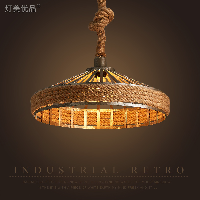 Vintage Hemp Rope Pendant Light cage Loft Creative Personality Industrial Pendant Lamp for Restaurant Coffee Bar vintage style creative edison lamp personality decoration hemp rope pendant lamp hall cafe bar coffee shop store club