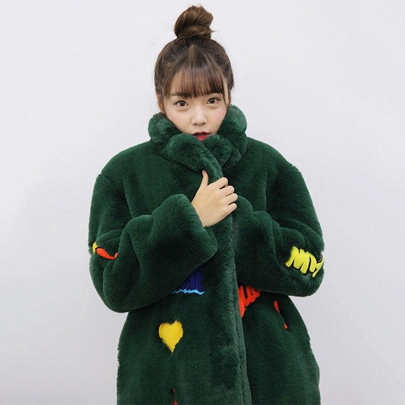 Long Chaud Manteau Survêtement Fourrure Mode Nouvelle Imitation D'hiver armygreen Black camel Lapin Rex Épaississement De Dd749 Femelle 2018 Mediun xA8Rgqx