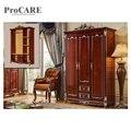 Белый деревянный дизайн трехдверный шкаф для спальни раздвижные двери шкаф-6003