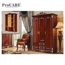white wooden design three door wardrobe bedroom sliding door wardrobe closet 6003