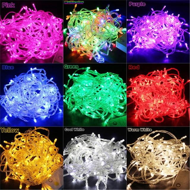 JXY 50M 400 LED 9 Colors Wedding Garden New Year Xmas Navidad ...