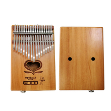 MUKU Electricity  Kalimba Goncalo-alvez African Thumb Piano Finger Percussion Keyboard Kids 17 key instrument With EQ