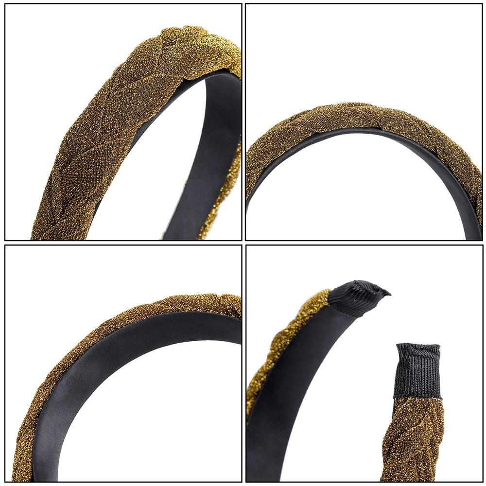 MOLANS Hair Accessories Wide Shiny Weaving Hairbands Braided Headband Hair Hoop Fashion Hair Bands Bezel Headdress