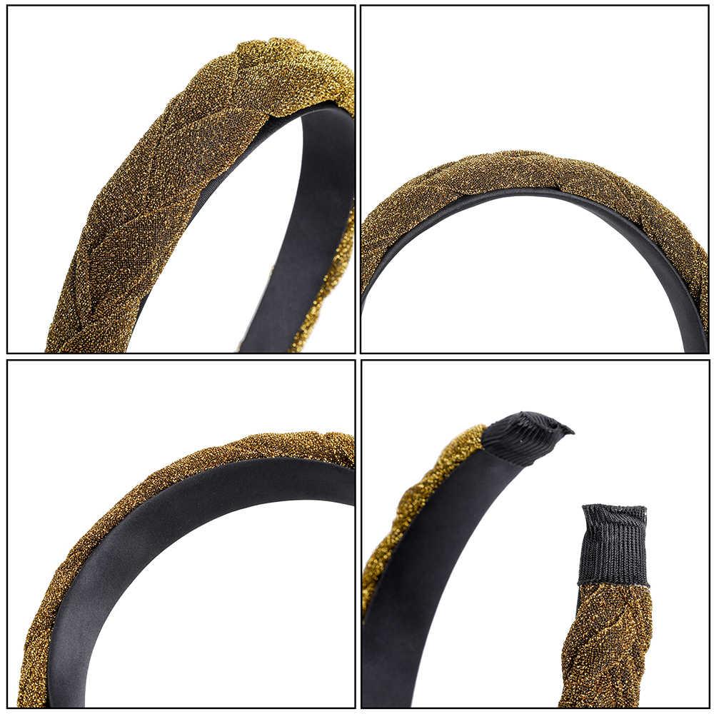 MOLANS إكسسوارات الشعر واسعة لامعة النسيج عصابات الشعر مضفر عقال الشعر هوب موضة العصابات الشعر الحافة غطاء الرأس