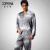 Nueva Llegada Conjuntos de Pijama Hombres Da Vuelta-abajo Botón de Vestir Pijamas ropa de Noche de Seda de la Emulación Suave Llena de La Manga 7206