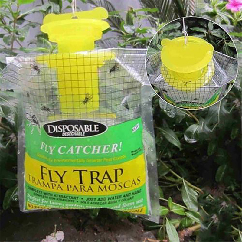 2 Packs Fly Trap Catches Bag Outdoor Disposable Fly