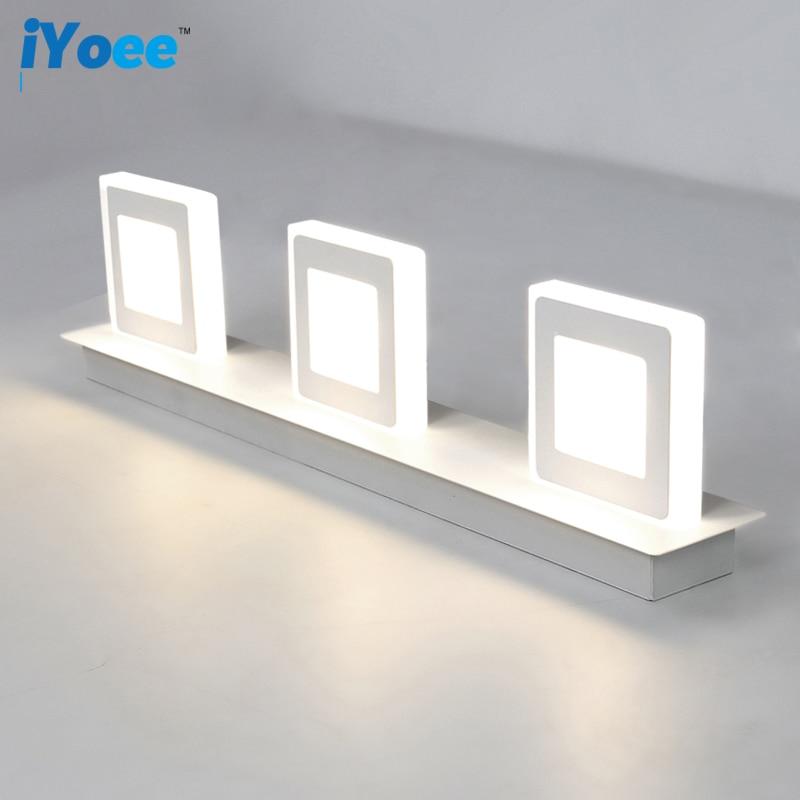 Lampu dinding, Kamar mandi dipimpin cahaya cermin, AC85-265v cat putih stainless steel sconce dinding, Pencahayaan dalam ruangan, Langsung lorong kreatif