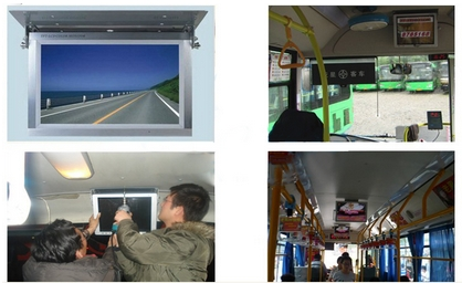 Bus Lcd Digital Signage And Gps Position Online Smart Tracking Telling Automatic Bus Stop Position GPS Report System