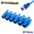50/100 piezas Cat6 Cat6a RJ45 macho Cable de red Ethernet sujetacables RJ45 tapones RJ45 conector azul HY1533
