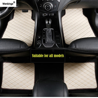Wenbinge car floor mat For bmw f10 x5 e70 e53 x4 f11 x3 e83 x1 f48 e90 x6 e71 f34 e70 e30 waterproof accessories car carpet