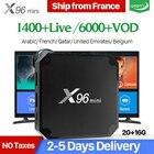 X96mini IPTV France Arabic TV Box Android 7.1 S905W 2G 16G with QHDTV 1 Year Code French Belgium Netherlands X96 mini IPTV Box
