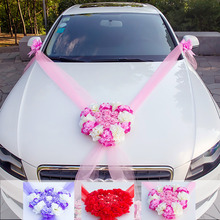 Bride deputy wedding car decoration front flower fleet artificial set float