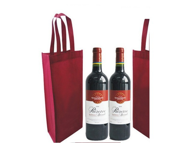 universal red wine bottle bag organza bags bottled wine christmas wedding party gift packaging gift promotion bag 20pcslot in shopping bags from luggage - Wine Christmas Gifts