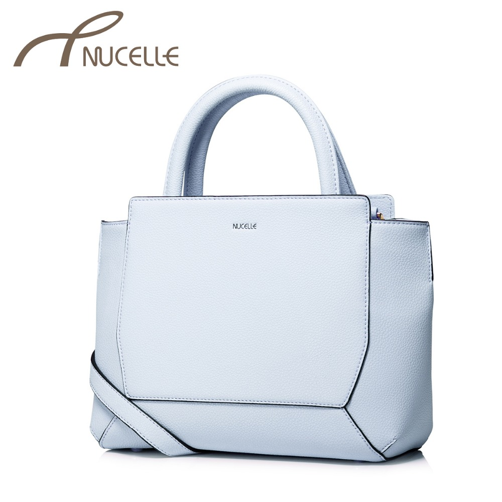 ФОТО NUCELLE Women Split Leather Handbags Ladies Fashion Patchwork Leather Tote Bags Female Brief Small Shoulder Crossbody Bag NZ5877