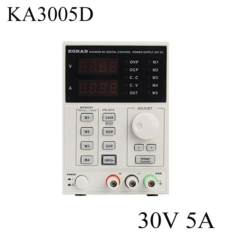 High quality KORAD KA3005D 0 30V 0 5A Precision Variable Adjustable DC Power Supply Digital Regulated