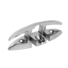 Marine Folding Flip Up Cleat Dock Deck Hardware For Ship Yacht Boat Line Rope mooring  316 Stainless Steel Anchor Cleat