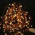 3 М Медного Провода Шнура СИД Водонепроницаемый Фея Света Открытый Праздник Света Для Рождественской Вечеринки Свадебные Украшения С Батареей