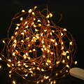 3 M de Fio de Cobre LED String Fada Luz Do Feriado Ao Ar Livre À Prova D' Água Decoração Luz Para Casamento Festa de Natal Com Bateria