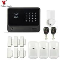 YobangSecurity Touch Keypad Home Protection WI FI GSM Security Alarm System APP Control PIR Detector Door Sensor G90B Socket