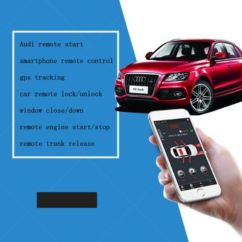 PLUSOBD Smartphone App Remote Control Car Alarm System Engine Start Stop Car Lock/unlock For Audi A5 Without Push Button Start