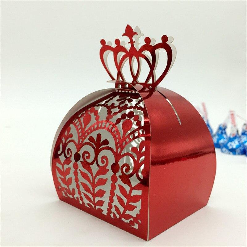 Crown Laser Cut Vine Flower Gift Candy Boxes Souvenirs
