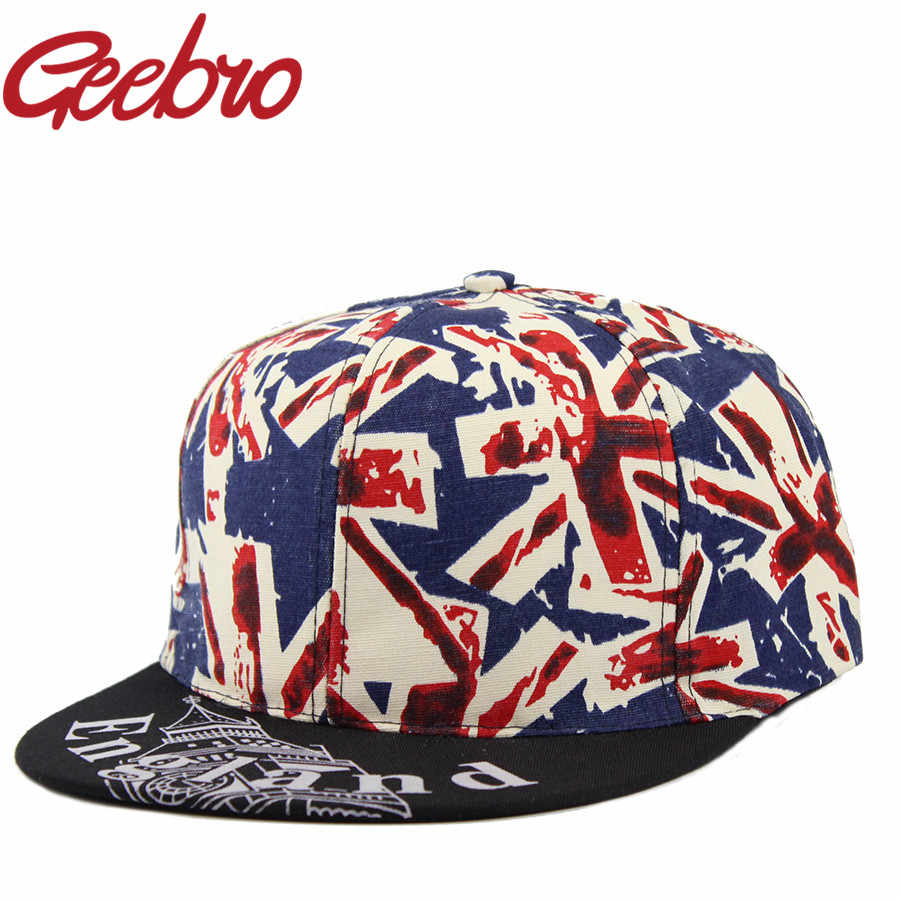 ... Latest Style England Flag Printing Snapback Baseball Cap Young People  Hip-Hop Skate Caps Bone ... cf1bad449765