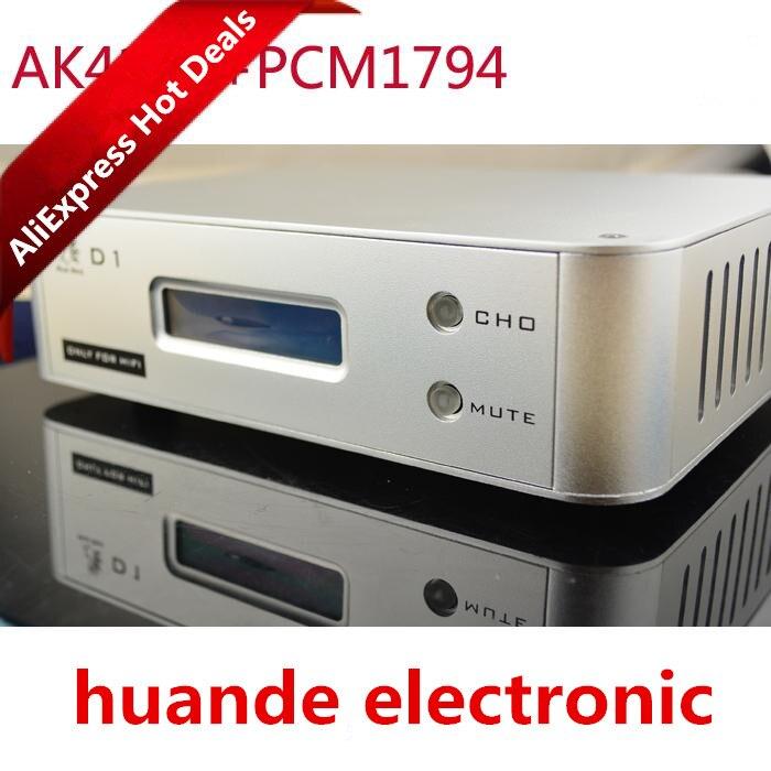 цена OPA2604 coaxial fiber USB input 24bitES9023 96K XMOS 192K PCM1794+AK4118 soft control screen display DAC Audio decoder