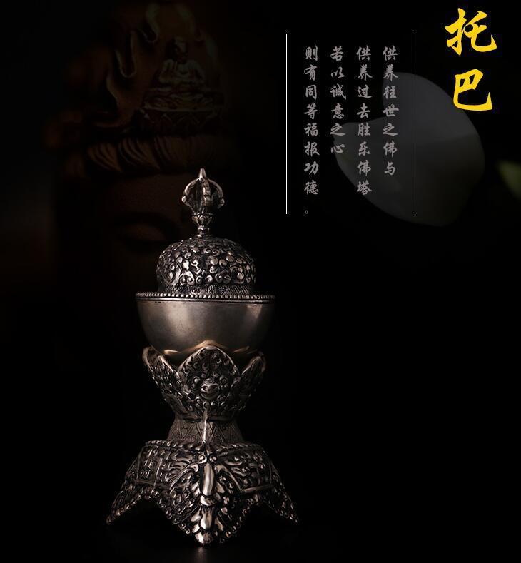 Tibet Buddhist Mikky  Carved handwok  Cupronickel Gabbra Kapala Cup Statue 8Tibet Buddhist Mikky  Carved handwok  Cupronickel Gabbra Kapala Cup Statue 8