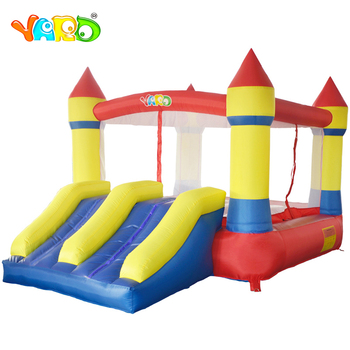 Bouncer House Dual Slide with Blower Indoor Outdoor Moonwalk Inflatable Bouncer Nylon PVC Jumping Castle For Kids Toy Funny Game free shipping free logo printing outdoor inflatable bouncer house inflatable bouncer castle jumping castle for kids play