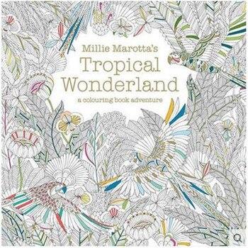 Millie Marotta Tropical de ganado libro para colorear estilo del ...