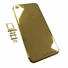 New for iPhone 7 Plus 5.5″ 24K 24KT 24CT GOLD ROSE GOLD PLATINUM SILVER Metal Back Cover Housing Middle Frame Replacement + LOGO