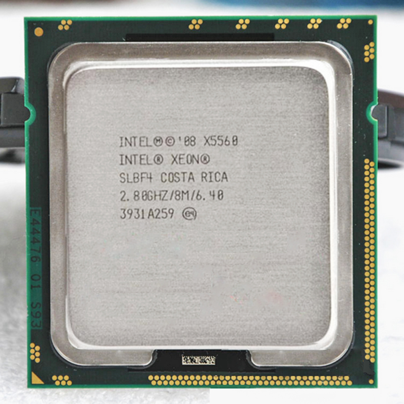 Galleria fotografica <font><b>Intel</b></font> Xeon X5560 Quad Core 2.8 GHz LGA 1366 TDP 95 W 8 MB Cache DELLA CPU garanzia 1 anno