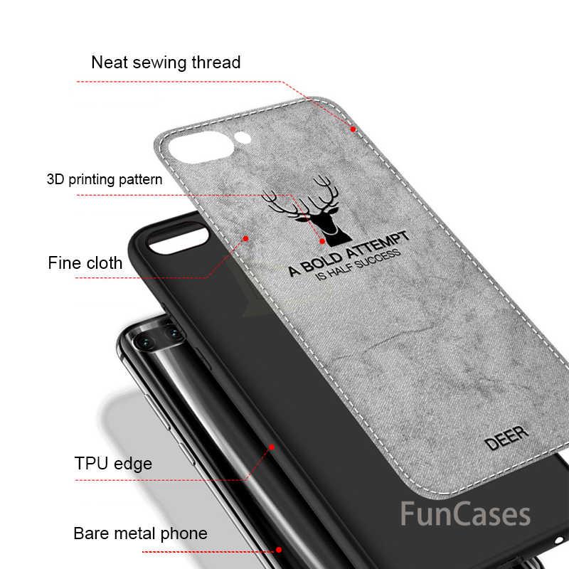 De Lujo tela textura de la tela para Huawei P20 Honor 10 9 8 Lite a prueba de golpes a prueba para Huawei P20 Pro suave funda de silicona borde