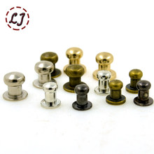 New arrive 30sets/lot alloy screw knob rivets handbag belt shoes watchband metal rivets crafts buckles accessories DIY handmade