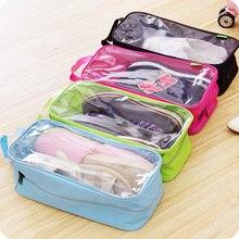 High Quality Portable Waterproof Shoe Storage Bag Travel Visual Breathable Organizer,Free Shipping.