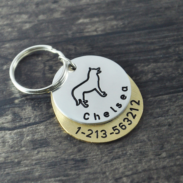 personalized dogtags siberian husky dog tag custom dog id tag hand