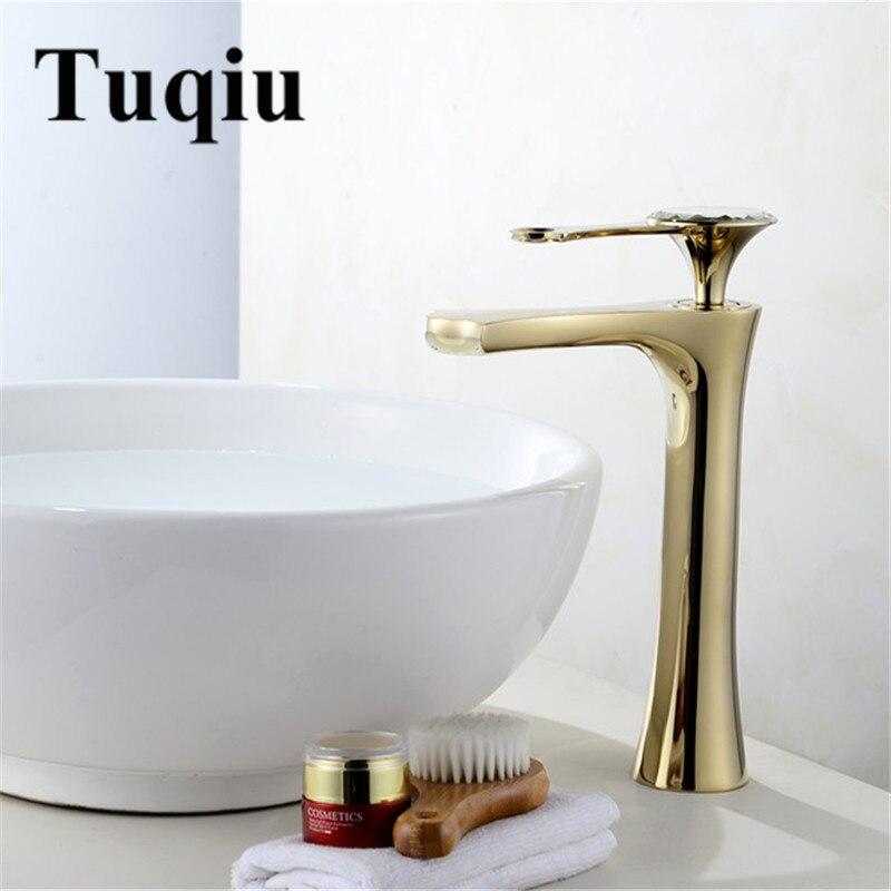 Robinet de salle de bain or poignée unique interrupteur chaud froid robinet mitigeur d'eau 5 couleurs lavabo salle de bain pont monté bassin robinet