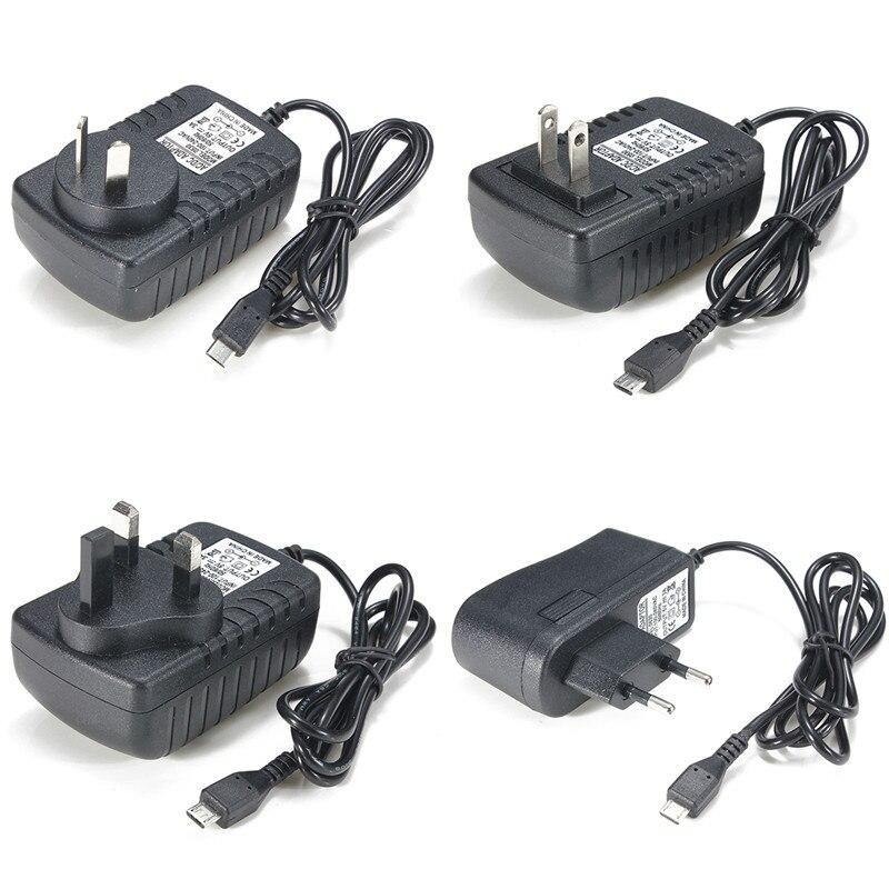 EU/AU/US/UK Plug USB Wall Power Supply Converter Adapter AC 100-240V DC 5V 3A AU/EU/UK/US plug ujoin us plug 100 240v power adapter w micro usb charging cable white deep pink