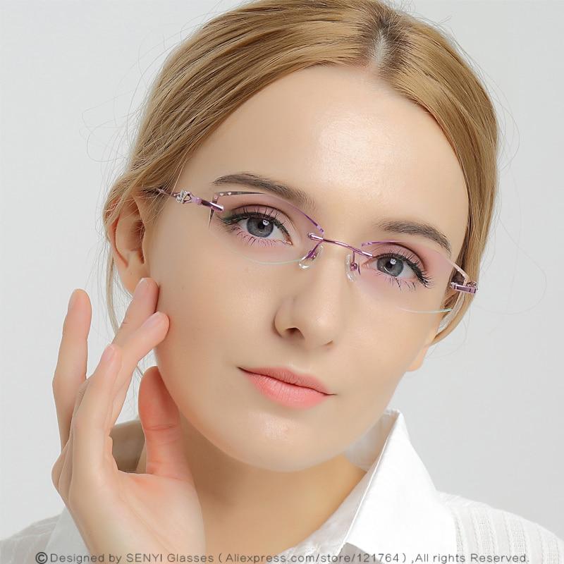 Analytisch Elegante Strass Brillen Rahmen Für Frauen Brillen Kurzsichtige/presbyopie Weibliche Spektakel Computer Brillen 654 Seien Sie Freundlich Im Gebrauch Bekleidung Zubehör