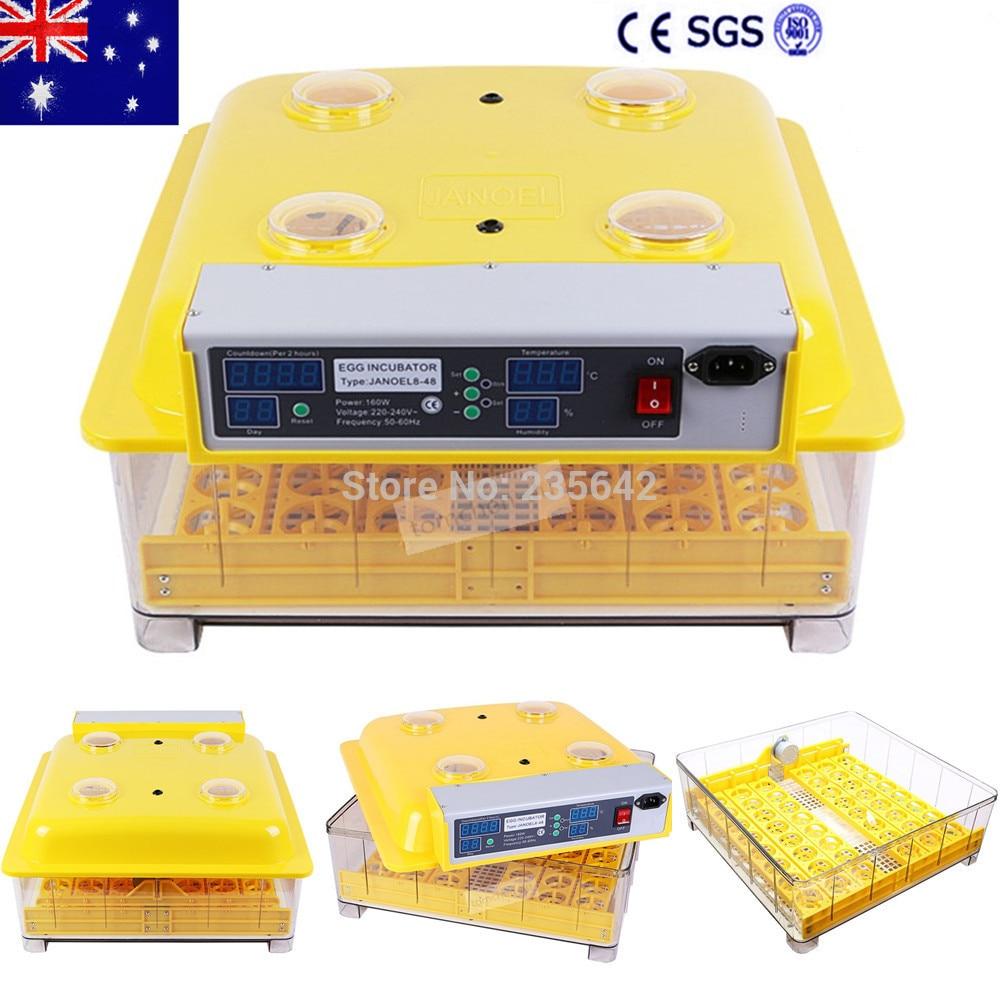 цена на Australia free shipping to Europe Hot sale capacity 48 eggs jn8-48 automatic egg incubator