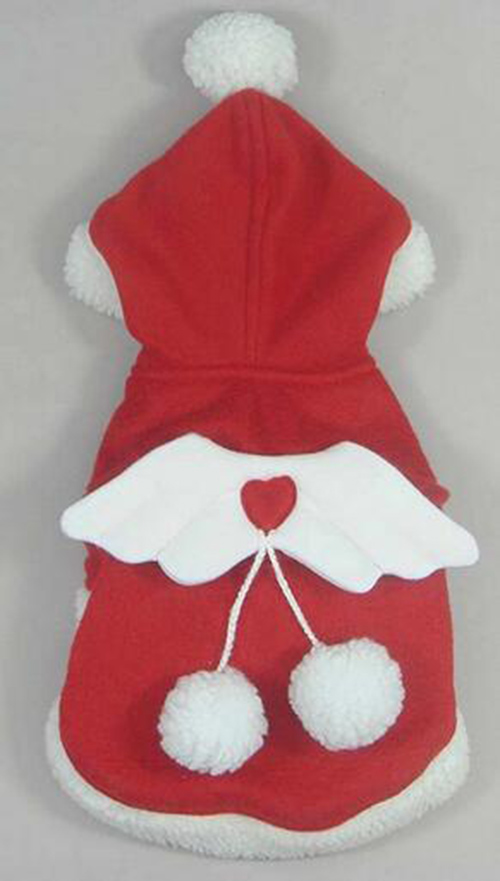 On sale dogs cats Santa Claus costume coats puppy outwear clothing doggy overcoat pet dog Christmas hoodies clothes 1pcs XS-XXL