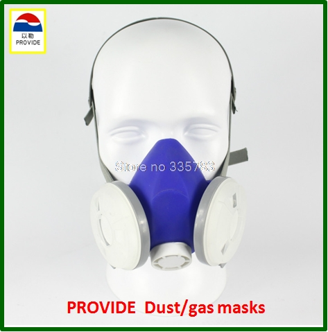high quality Dustproof gas masks blue Silica gel protective mask dust pesticides industrial safety safety masks high quality respirator gas mask provide silica gel gray protective mask paint pesticides industrial safety mask
