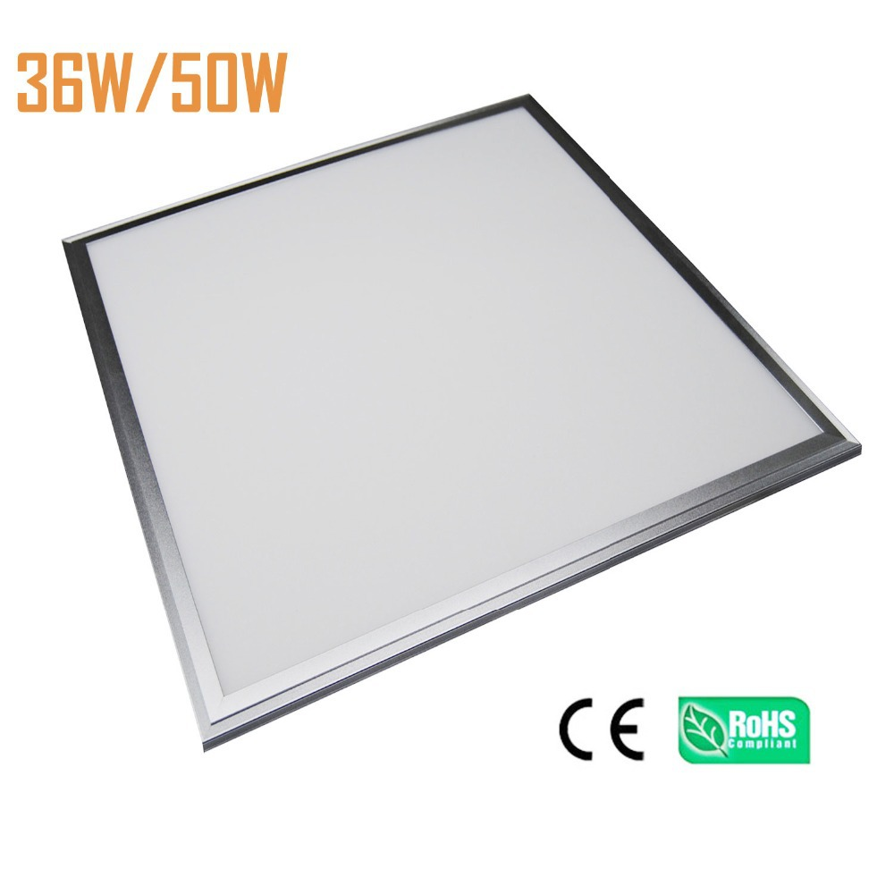 2pcs 50W LED panel light 600x600mm 595X595mm 300pcs SMD4014 3800lm CRI>80 high bright super slim 9mm Panel Light 2pcs/lot WW PW free shipping waterproof ip65 led panel 600x600mm high bright led chips with led driver ww nw cw color temperature aluminum pmma