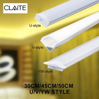 CLAITE 30 センチメートル 45 センチメートル 50 センチメートル 3 スタイル UV YW アルミチャンネルホルダー led ストリップライトバー下キャビネットランプキッチン 1.8 センチメートルワイド