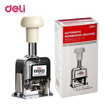 цены Deli 1pcs Automatic Number Machine 6 position numbering machine into number coding Page Chapter marking machine digital stamp