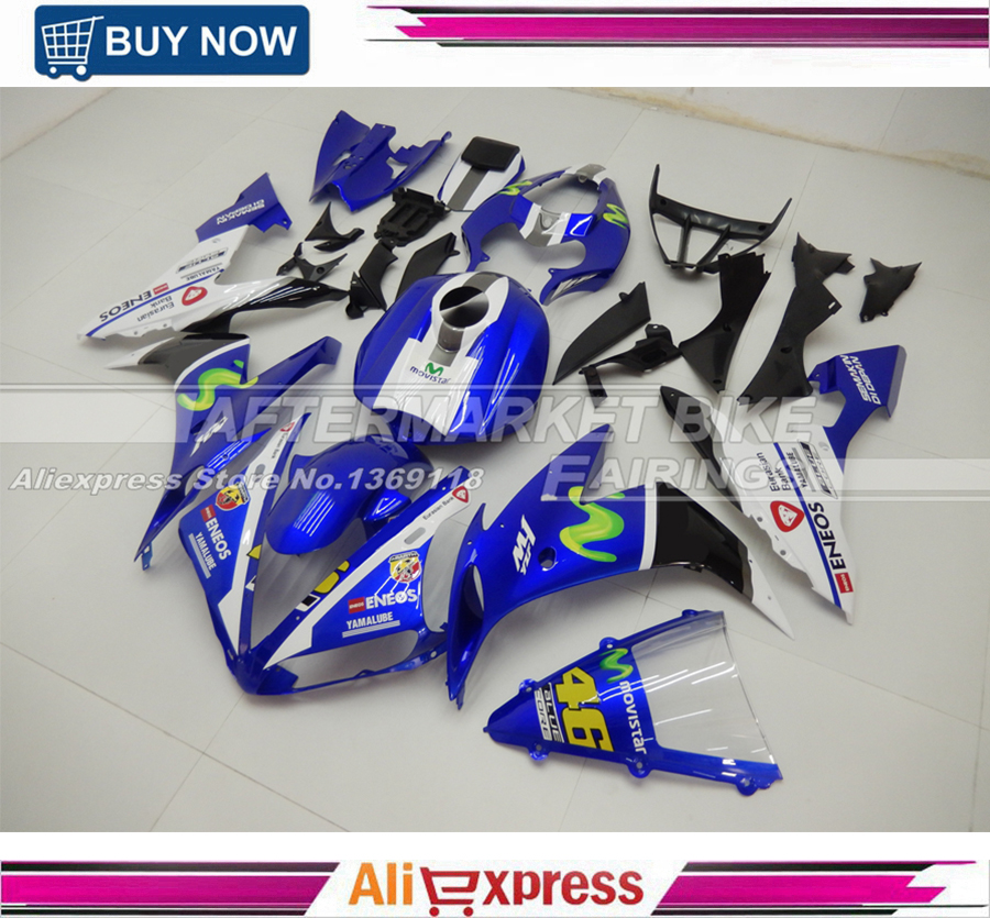 For Yamaha R1 2004 05 06 Years ABS Motorbike Fairing 04 2005 2006 YZF R1 Full Fairings Kits 100% Good Quality unpainted motorcycle tail rear fairing parts for yamaha 2004 2005 2006 yzf r1 abs plastic