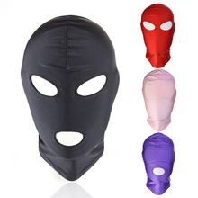 Newly 1 Pcs Mask Hood Sex Toy Product Games Cosplay Bondage Headgear Safe Halloween Gift 19ing