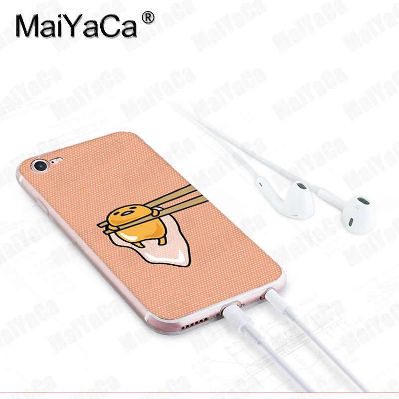 MaiYaCa עבור iphone 7 6 X מקרה Gudetama ביצה שקוף כיסוי מקרה עבור iphone 8 7 6 6S בתוספת X 10 5 5S SE 5C XS XR